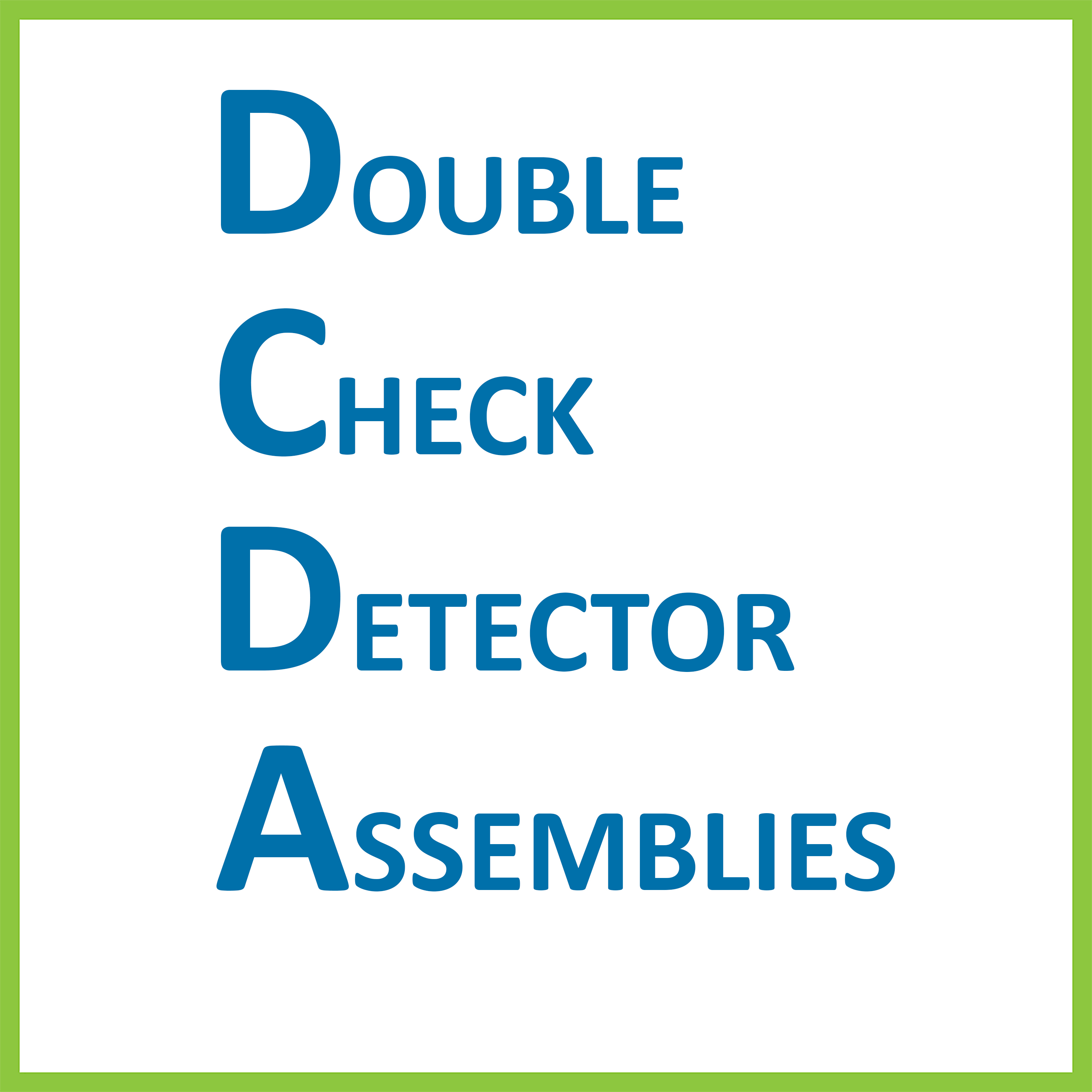 Double Check Detector Assemblies